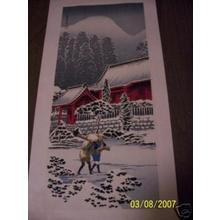 Shotei Takahashi: M52- After snow at Hakone Shrine - Japanese Art Open Database