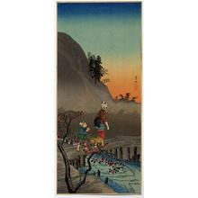 Shotei Takahashi: M-25 Late Autumn in a village- peasant girl - Japanese Art Open Database