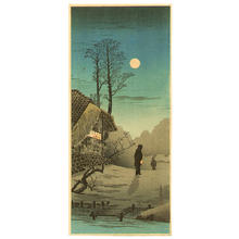 Shotei Takahashi: M-34 - Futayado - Moon at old country house - Japanese Art Open Database