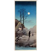 Shotei Takahashi: M-34 - Futayado - Moon at old country house - Japanese Art Open Database