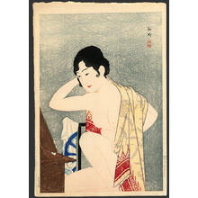 Shotei Takahashi: Make-up Before the Mirror - Japanese Art Open Database