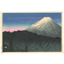 Shotei Takahashi: Mt Fuji from Hakone — 箱根 - Japanese Art Open Database