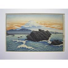 Shotei Takahashi: Mt Fuji from Okitsu - Japanese Art Open Database