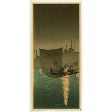 Shotei Takahashi: Night Fishing at Tsukuda - Japanese Art Open Database