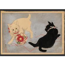 Shotei Takahashi: Playing cats - Japanese Art Open Database