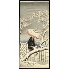 Shotei Takahashi: Plum blossom in snow - Japanese Art Open Database
