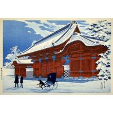 Shotei Takahashi: Clear Weatehr after Snowfall - Red Gate at Hongo — 雪晴(本郷赤門) - Japanese Art Open Database