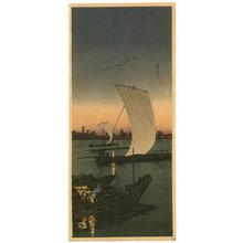 Shotei Takahashi: River Boats in the Evening - Japanese Art Open Database