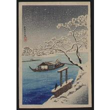 Shotei Takahashi: River Sumida in snow - Japanese Art Open Database