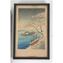 Shotei Takahashi: River Sumida in snow - Japanese Art Open Database