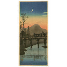 Shotei Takahashi: Sakawa Bridge in Evening- V2 - Japanese Art Open Database