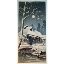 Shotei Takahashi: Snowy night with a hazy moon - Japanese Art Open Database