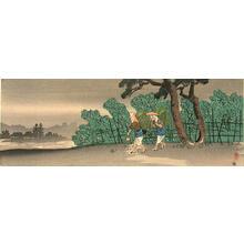 Shotei Takahashi: Tea pickers - Japanese Art Open Database