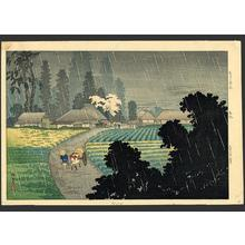 Shotei Takahashi: Magome in rain - Japanese Art Open Database