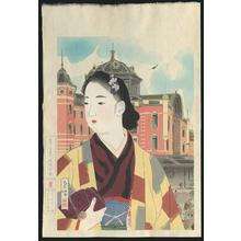 Shuho Yamakawa: The Tokyo Station At Present- Ishukankokai - Japanese Art Open Database