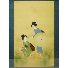 Shuho Yamakawa: Two Bijin and Parasol - Japanese Art Open Database