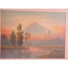 Shumin: Mt Fuji in clouds - Japanese Art Open Database