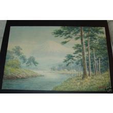 Shumin: Mt Fuji, river, forest - Japanese Art Open Database