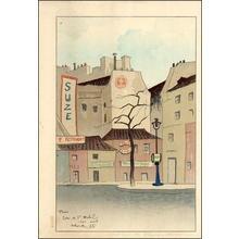 Shungo Sekiguchi: Paris Street Scene - Japanese Art Open Database