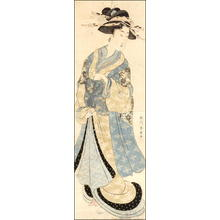 勝川春扇: Standing Courtesan 1 - Japanese Art Open Database