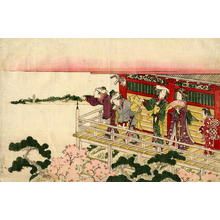 勝川春扇: The Balcony - Japanese Art Open Database