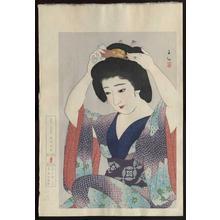 名取春仙: Kagami no Mae- Before the Mirror - Japanese Art Open Database