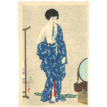 名取春仙: After a bath - Japanese Art Open Database
