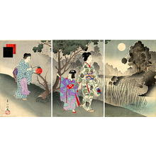 宮川春汀: August — 其八 名月 - Japanese Art Open Database