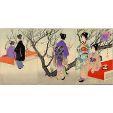 Miyagawa Shuntei: February — 其二 観梅 - Japanese Art Open Database