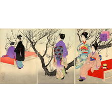 宮川春汀: February — 其二 観梅 - Japanese Art Open Database