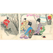 宮川春汀: March — 其三 桜あそび - Japanese Art Open Database