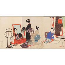 Miyagawa Shuntei: November — 其十一 嫁入 - Japanese Art Open Database