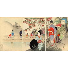 Miyagawa Shuntei: October — 其十 紅葉 - Japanese Art Open Database