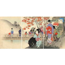 宮川春汀: October — 其十 紅葉 - Japanese Art Open Database