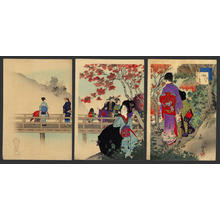 Miyagawa Shuntei: October — 其十 紅葉 - Japanese Art Open Database