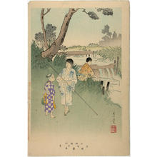 宮川春汀: Fishing — Uo-tsuri - Japanese Art Open Database