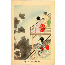 宮川春汀: Evening Cool — 夕涼み - Japanese Art Open Database