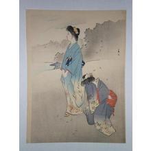 宮川春汀: Two Bijin- One Crying - Japanese Art Open Database