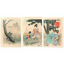 Miyagawa Shuntei: Beauty and Autumn Garden - Japanese Art Open Database