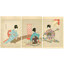宮川春汀: Playing Music - Japanese Art Open Database