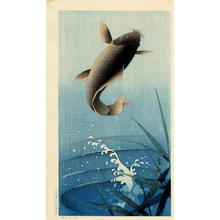 Soseki Komori: Leaping Carp - Japanese Art Open Database