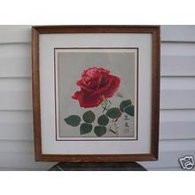 Suiko Fukuda: Red Rose - Japanese Art Open Database