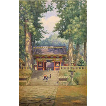 Tabuchi Janse: Temple at Mount Nikko - Japanese Art Open Database