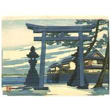 Tadamasa Ueno: Torii Gate in the Evening - Japanese Art Open Database