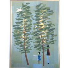 笠松紫浪: Unknown, trees - Japanese Art Open Database