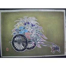 Takahashi Tasaburo: Flower Cart 2 — 花籠花車 - Japanese Art Open Database