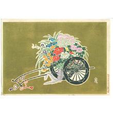 Takahashi Tasaburo: Flower Cart I — 花籠花車 - Japanese Art Open Database
