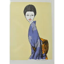 Takasawa Keiichi: Looking Back- lithograph - Japanese Art Open Database