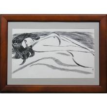 Takasawa Keiichi: Nude woman — 裸婦 - Japanese Art Open Database