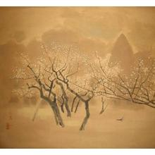 Takasawa Keiichi: Plum Trees and Dove — 梅林図 - Japanese Art Open Database